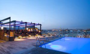 Rooftop hotel in Barcelona