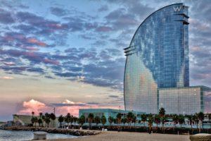 Waterfront hotel in Barcelona Spain