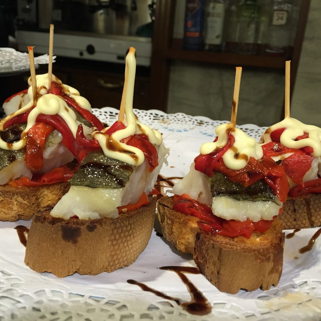 Pinchos in northern Spain