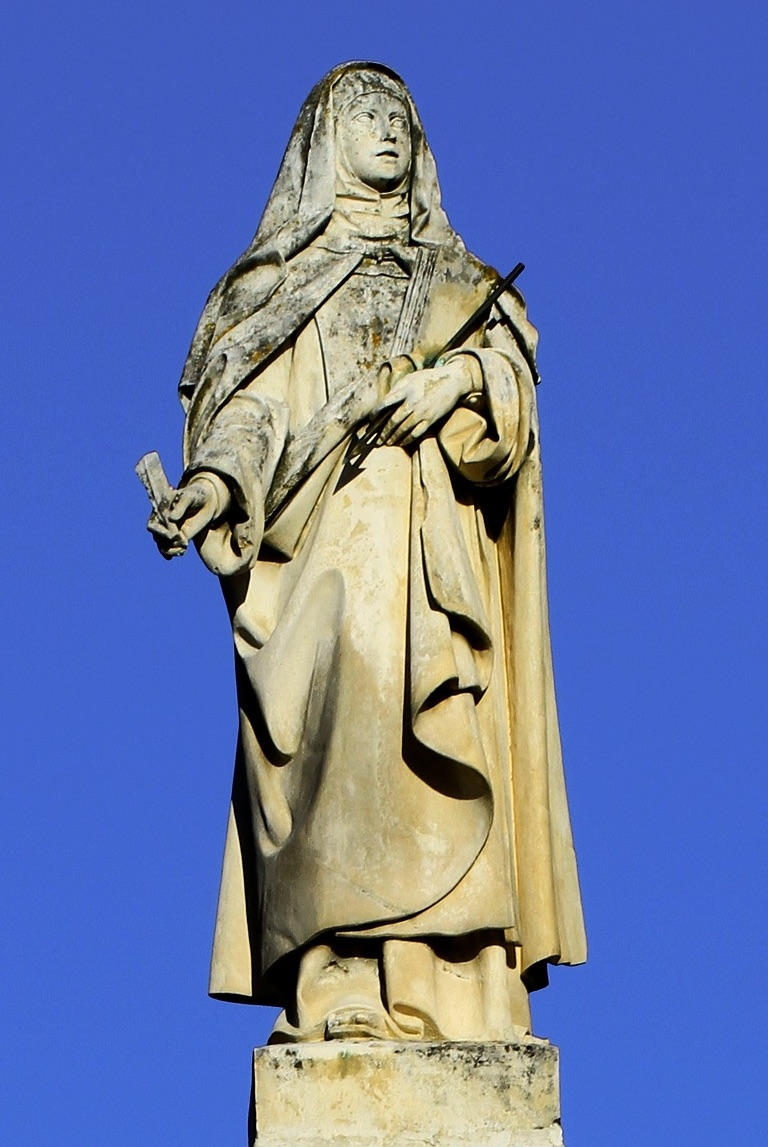 Saint Teresa status in Avila, north-west of Madrid.