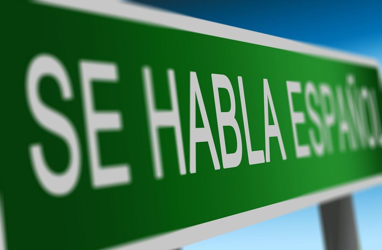 Spanish is spoken sign
