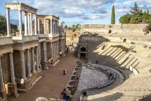 A Roman theatre in Mérida