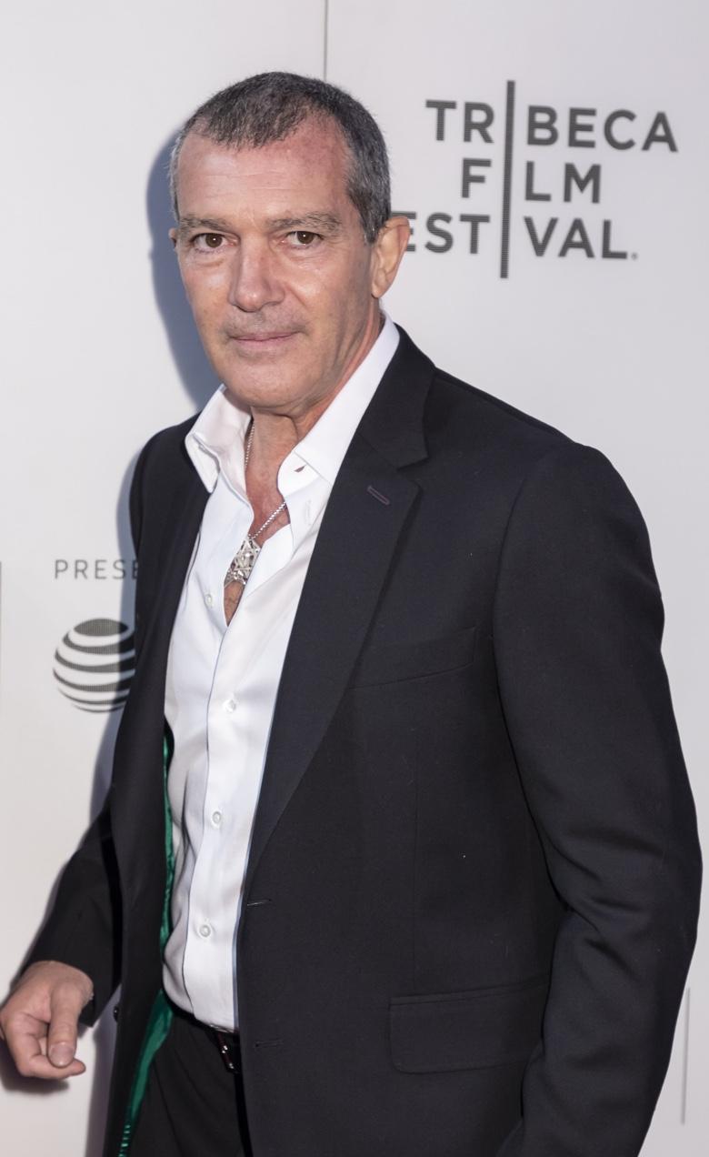 Famous Spanish actor Antonio Banderas attending the 2018 Tribeca Film Festival
