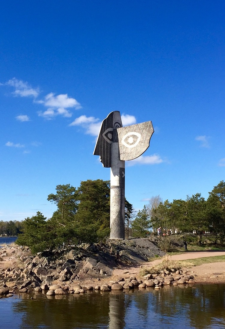 The famous Picasso sculpture at Kristinehamn in Sweden