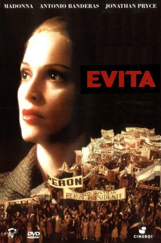 Movie poster from the film Evita