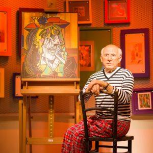 Pablo Picasso waxwork figure at Madame Tussauds