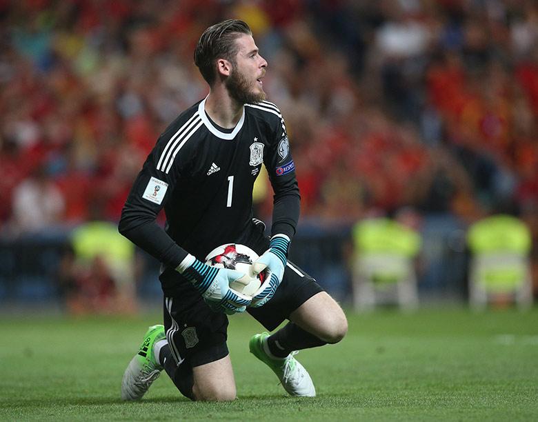 Spanish goalkeeper David de Gea in action