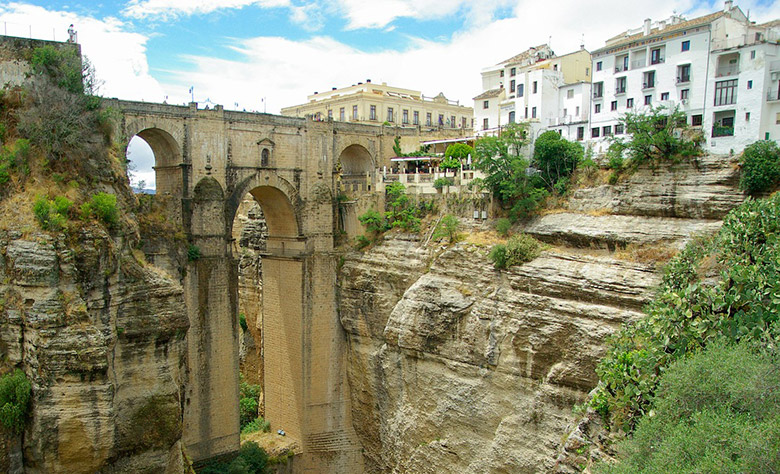 The old bridge of Ronda in Spain's Andalusia region