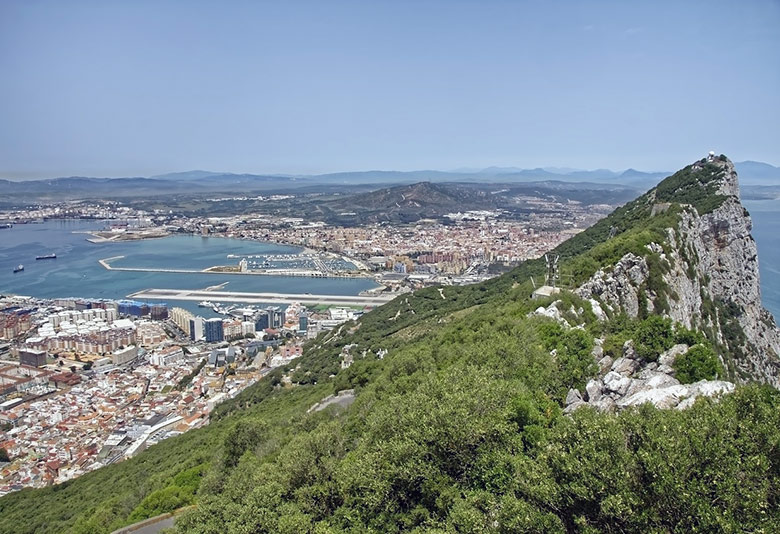 Panorama of the Rock of Gibraltar