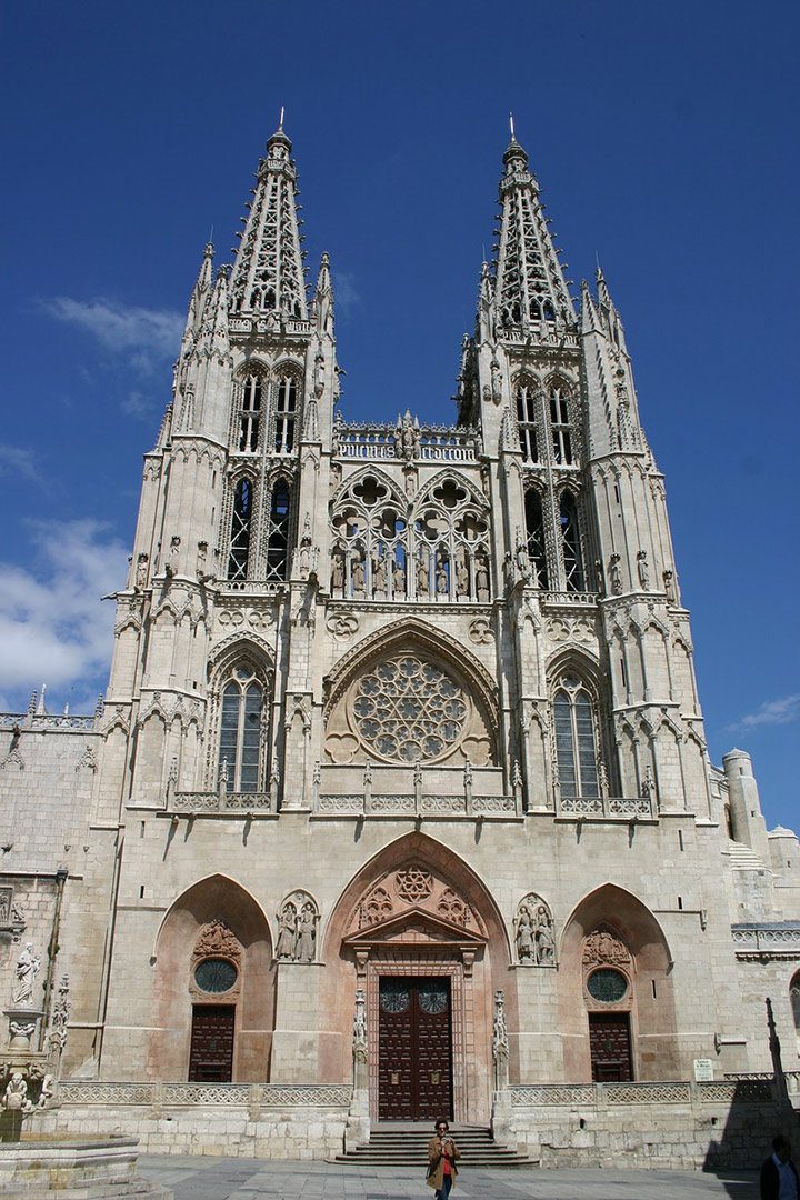 Spectacular Burgos Cathedral in Northern Spain